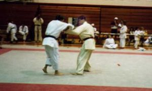 Artur Poczwardowski, Ph.D. (right), on his way to winning a gold medal in open category at Utah Summer Games in 1994