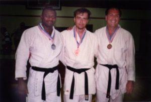 Artur Poczwardowski, Ph.D. (center), winner of a gold medal in open category at Utah Summer Games in 1994
